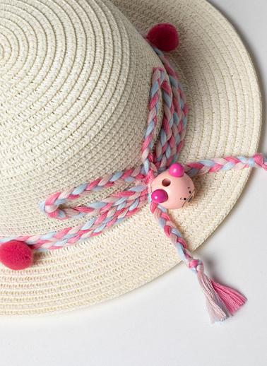 Katia & Bony Kız Çocuk Teddy Şapka  Ekru